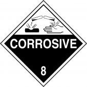 - DOT Hazard Class 8 Placards: Corrosive