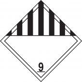 - DOT Placard: Hazard Class 9 - Miscellaneous Dangerous Goods