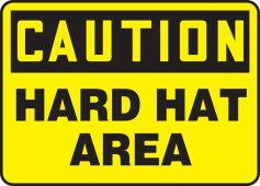 - OSHA Caution Safety Sign: Hard Hat Area