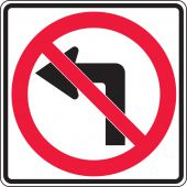 - Lane Guidance Sign: No Left Turn