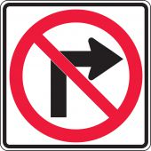 - Lane Guidance Sign: No Right Turn