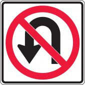 - Lane Guidance Sign: No U-Turn