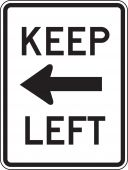- Lane Guidance Sign: Keep Left