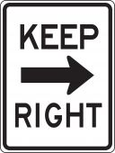 - Lane Guidance Sign: Keep Right