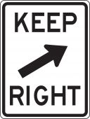 - Lane Guidance Sign: Keep Right (Diagonal)