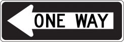 - Lane Guidance Sign: One Way (In Left Arrow)
