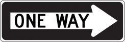 - Lane Guidance Sign: One Way (In Right Arrow)