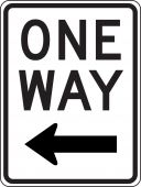 - Lane Guidance Sign: One Way (Left Arrow)