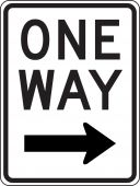 - Lane Guidance Sign: One Way (Right Arrow)