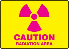 - Caution Safety Sign: Radiation Area