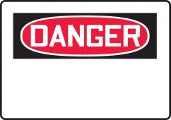 - OSHA Danger Safety Sign Blank