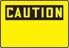 - OSHA Caution Safety Sign Blank