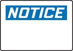 - OSHA Notice Safety Sign Blank