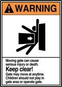 - ANSI Warning Safety Sign: Keep Clear