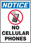 - OSHA Notice Safety Sign: No Cellular Phones