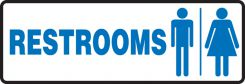 - Safety Sign: Restrooms (Men and Women)