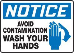 hand wash - OSHA Notice Safety Sign: Avoid Contamination - Wash Your Hands