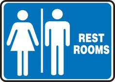 - Safety Sign: (Graphic) Restrooms