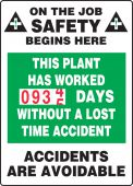 - Turn-A-Day Scoreboards: This Plant Has Worked _ Days Without A Lost Time Accident
