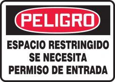 - Spanish Safety Sign: Espacio Restringido - Se Necesita Permiso De Entrada