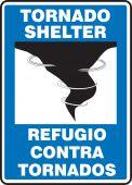 - Bilingual Safety Sign: Tornado Shelter