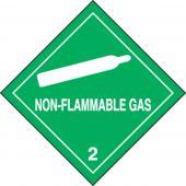 - DOT Shipping Labels: Hazard Class 2: Non-Flammable Gas