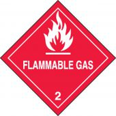 - DOT Shipping Labels: Hazard Class 2: Flammable Gas