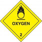 - DOT Shipping Labels: Hazard Class 2: Oxygen