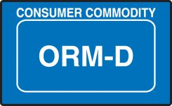 - ORM Shipping Label: Consumer Commodity