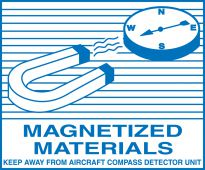 - Hazardous Material Shipping Label: Magnetized Materials