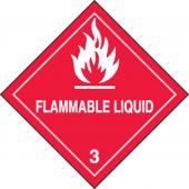 - DOT Shipping Labels: Hazard Class 3: Flammable Liquid
