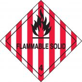 - DOT Shipping Labels: Hazard Class 4: Flammable Solid