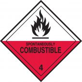 - DOT Shipping Labels: Hazard Class 4: Spontaneously Combustible