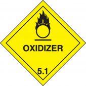 - DOT Shipping Labels: Hazard Class 5: Oxidizer