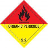 - DOT Shipping Labels: Hazard Class 5: Organic Peroxide