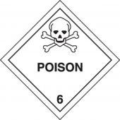 - DOT Shipping Labels: Hazard Class 6: Poison