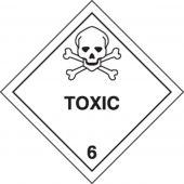 - DOT Shipping Labels: Hazard Class 6: Toxic