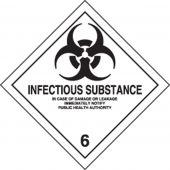 - DOT Shipping Labels: Hazard Class 6: Infectious Substance