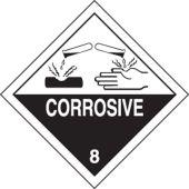 - DOT Shipping Labels: Hazard Class 8: Corrosive