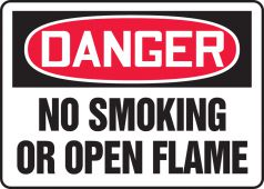 - OSHA Danger Safety Sign: No Smoking Or Open Flame