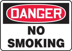 - OSHA Danger Safety Sign: No Smoking