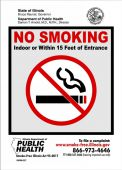 - Safety Sign: No Smoking Indoor Or Within 15 Feet Of Entrance (Illinois)