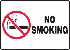- Safety Sign: No Smoking