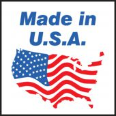 - Shipping Label: Made in U.S.A.