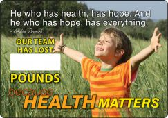 - WorkHealthy™ Write-A-Day Scoreboards: He Who Has Health Has Hope