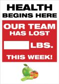 - WorkHealthy™ Write-A-Day Scoreboards: Health Begins Here - Our Team Has Lost _ Lbs This Week