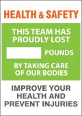- WorkHealthy™ Safety Sign: Health & Safety Weight Loss Scoreboard