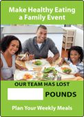- WorkHealthy™ Write-A-Day Scoreboards: Make Healthy Eating A Family Event - Our Team Has Lost _ Pounds