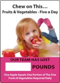 - WorkHealthy™ Write-A-Day Scoreboards: Chew On This - Fruits And Vegetables