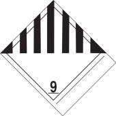 - Proper Shipping Name Label: Hazard Class 9 - Miscellaneous Dangerous Goods